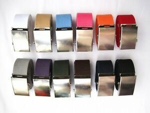Canvas-Belts-Military-Paint-Web-Belt-Silver-Metal-Buckle-12-Colors-Fit-0-to-45-034