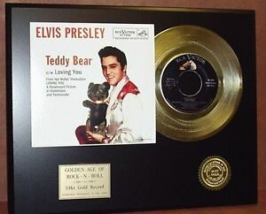 Elvis-Presley-Teddy-Bear-24k-Gold-Record-Limited-Edition-Free-USA-Shipping