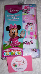 7-Pair-Disney-Mickey-Mouse-Clubhouse-Minnie-Cotton-Panty-Underwear-Girls-Size-4T