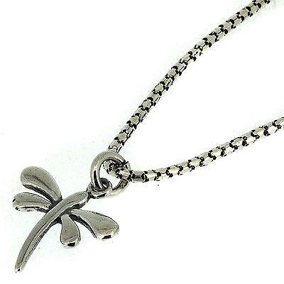 925er Silber Oxidierte Handgefertigt Libelle Anhänger Und Kette Elegant