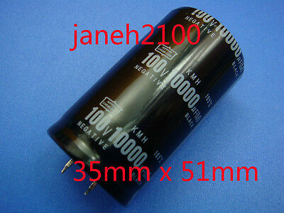 4 pieces NIPPON 100V 10000UF Electrolytic Capacitor 35X51mm (B94)  LI
