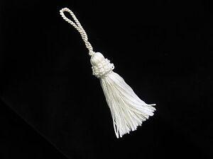 White-silky-key-tassel-Wedding-deocoration-13cm-long-Soft-furnishing-trim