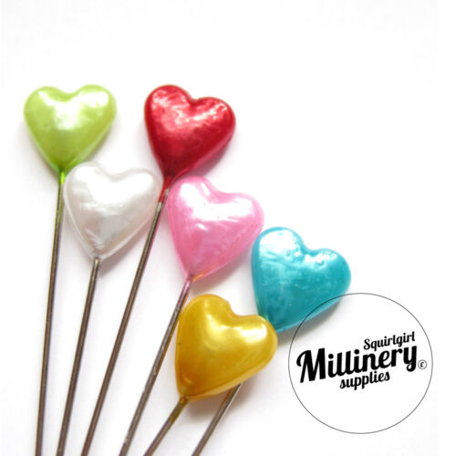 Set of 30 Vintage Inspired Heart Leaf or Flower Sewing Straight Pins