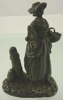 THE LAVENDER GIRL FIGURINE FINE PEWTER BY THE FRANKLIN MINT 1976