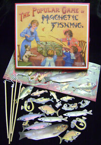 NEW-MAGNETIC-FISHING-TRADITIONAL-1800-039-s-VINTAGE-GAME