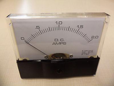 "Dc. Panel METER 0 - 2 Amp. 4"" X 3 1/2"" NEW For CB Radio Ham Amp Amplifier"
