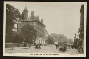 London-LEWISHAM-Fire-Station-High-St-RP-PPC-1920s