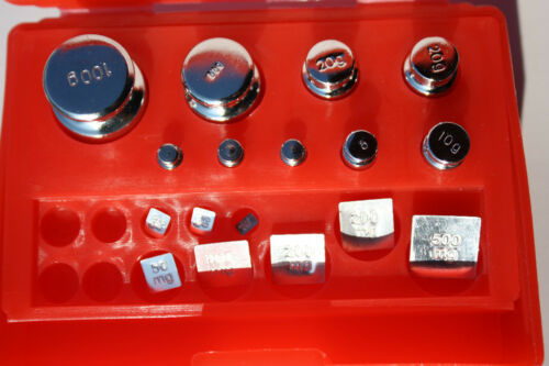 New 17pcs Scale Calibration Weight Set include 100-50-20-10-5-2-1g,500-200-100mg