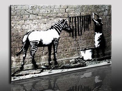 Bild auf Leinwand Banksy Graffiti - Street Art, Kunstdruck, Wandbild, k. Poster