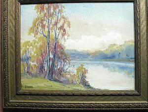 Framed-Watercolor-Fall-Foliage-by-Engel