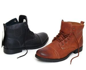 New-Mens-Ankle-Boots-Dress-or-Casual-Leather-Lined-Shoes-Lace-up-Slip-On-Pull-up