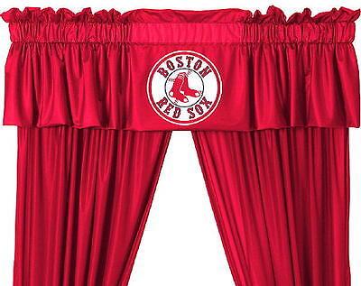"NEW Boston Red Sox MLB Logo Jersey Window Valance 88"" x 14"""