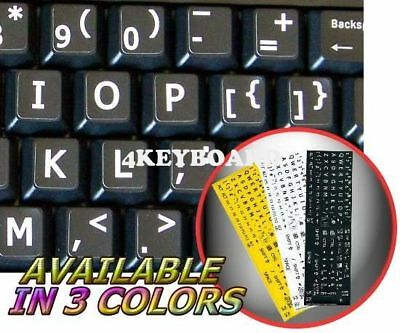 English UK LARGE LETTERING Keyboard Sticker black