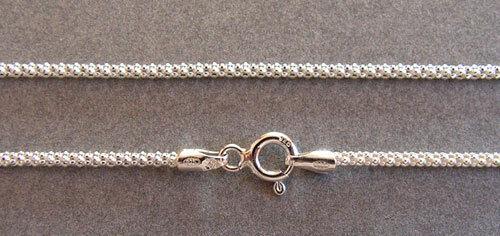 Silber-Kette 925 Koreana geschwärzt und ungeschwärzt 1,6 mm in 45 und 55 cm