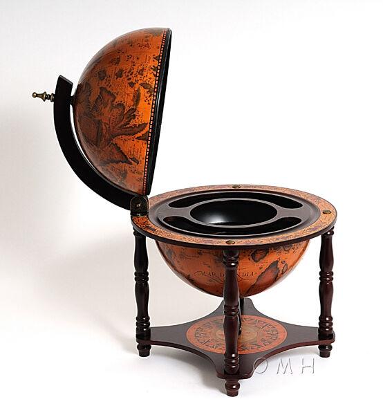Masquer Un bar à dessus de table vieux monde style globe Caché en bois nautique PUB 13  nouveau