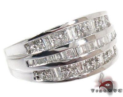 Mens Ladies Women Diamond Anniversary Ring Round Cut Band 14k White Gold 0.66ct