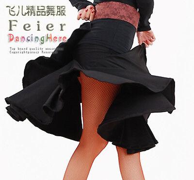 Latin salsa Ballroom Dance Dress #M059 skirt *Black*