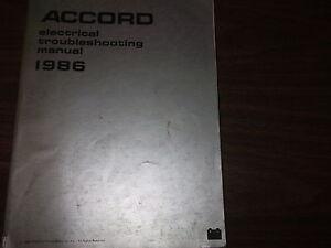 1986 honda accord electrical wiring diagram troubleshooting manual image is loading 1986 honda accord electrical wiring diagram troubleshooting manual