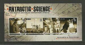 BRITISH-ANTARCTIC-TERRITORY-2011-EXPEDITION-1910-13-4V-SHEET-MNH
