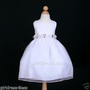 WHITE-WEDDING-PARTY-RECITAL-FAIRY-FORMAL-FLOWER-GIRL-DRESS-2-2T-3-4-5-6-7-8-9-10