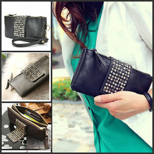 1X-Fashion-Women-Leather-Shinning-Spots-Evening-Bag-Clutch-Purse-Wallet-Handbag