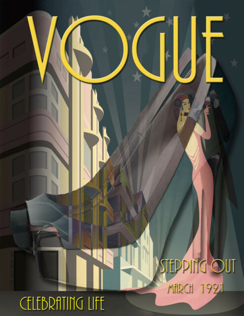 Art Deco Vogue Like Poster/Stepping Out'/High Heels/Fashion 17x22 inch