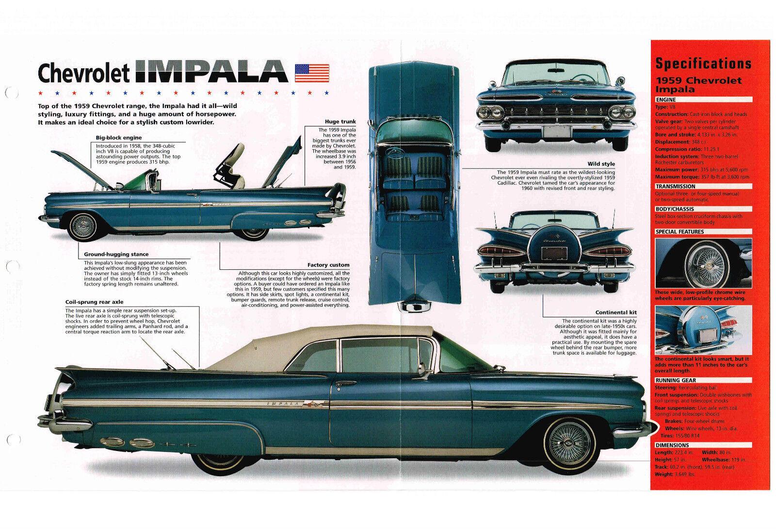 1959 Chevy Impala Spec Sheet Brochure Catalog 121005184913 Rear Wiring Harness