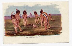 1903 INDIAN BOYS EMBOSSED TAMMEN DENVER POSTCARD PC1792