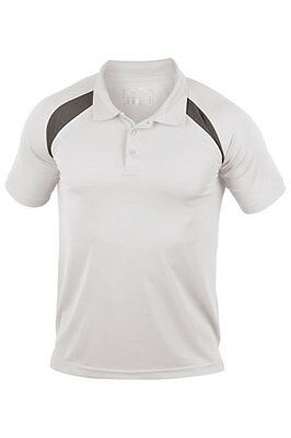 Hanes Mens Mans Sports Performance Contrast Polo Shirt Breathable Wicking S-3XL