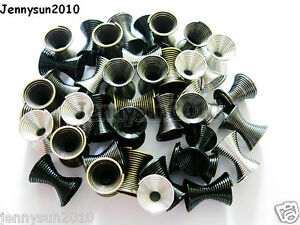 100pcs-Metal-Hourglass-Loose-Spacer-Beads-9mmx-11mm-Silver-Gunmetal-Black-Bronze