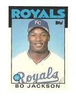 1986 Topps Traded Bo Jackson Kansas City Royals #50T Baseball Card