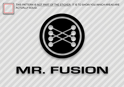MR. FUSION Sticker Die Cut Decal Self Adhesive Vinyl Back to the Future