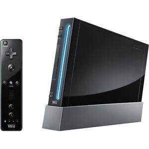 nintendo wii black console ntsc
