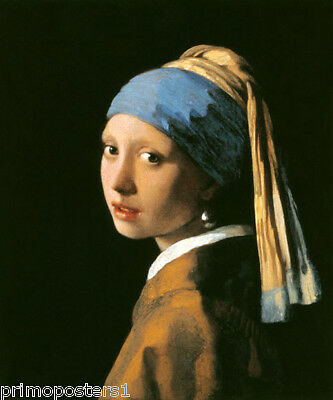 GIRL WITH A PEARL EARRING 1665 PAINTING BY VERMEER REPRO