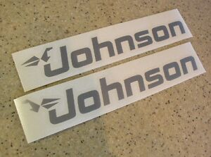 Johnson-Outboard-Motor-Decals-2-PAK-12-034-FREE-SHIP-FREE-Fish-Decal
