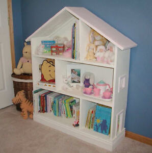 Dollhouse Plans Doll house plan Bookshelf Bookcase eBay