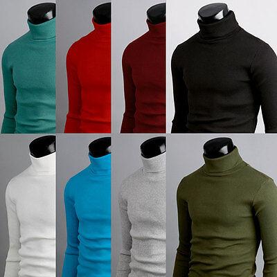 d1 mens winter cotton polo neck turtleneck sweater shirts jumper S M L XL 2XL