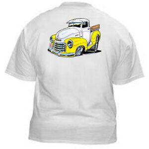 Kurbside-Kustoms-1947-53-Chevy-Pickup-Hot-Rod-100-Cotton-T-shirt-BH-30Y