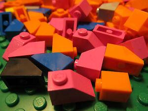 LEGO-3040-Assorted-Colors-2-x-1-BRICK-SLOPE-45-2-x-1-Qty-x-50-Pieces