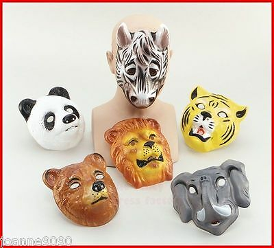 New Plastic Childs Kids Wild Animal Zoo Fancy Dress Costume Outfit Loot Bag Mask