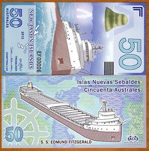 New-Jason-Islands-50-Australes-2012-POLYMER-UNC-gt-Ship