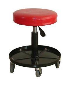 Mechanics pneumatic work shop stool adjustable rolling for Europe garage seat