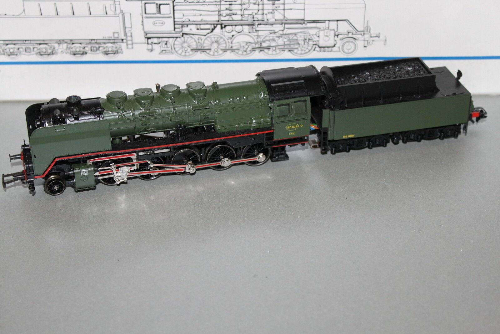 Märklin 3314 máquina de vapor serie 25 (serie 50) SNCB Spur h0 OVP