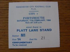 11021984 Ticket Manchester City v Portsmouth Complimentary Item In very go - <span itemprop=availableAtOrFrom>Birmingham, United Kingdom</span> - Returns accepted within 30 days after the item is delivered, if goods not as described. Buyer assumes responibilty for return proof of postage and costs. Most purchases from business s - Birmingham, United Kingdom