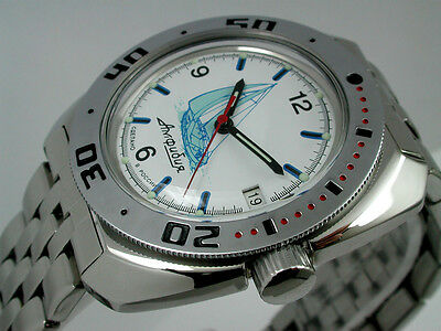 RUSSIAN  VOSTOK AUTO AMPHIBIAN  WATCH #10615b NEW