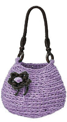 "DMC Hooked Zpagetti  ""RIMINI"" Crochet Handbag Kit - Choice of Colours"