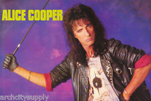 POSTER-MUSIC-ALICE-COOPER-1989-LEATHER-JACKET-FREE-SHIP-ALP001-LW22-R