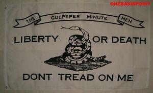 3-039-x5-039-Culpeper-Minute-Men-Don-039-t-Tread-On-Me-Flag-Patriotic-Military-Liberty-3x5