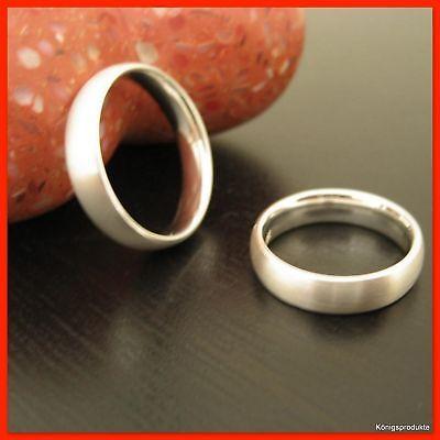 1 Paar Eheringe, Freundschaftsringe, Verlobungsringe in 925er Silber, HH-B100/5F