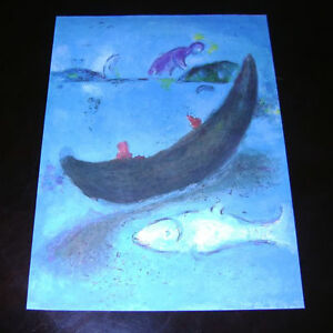 Chagall-Litho-Art-Print-039-Bible-Pastorale-Young-Love-039-by-Les-Editions-Verve-039-77
